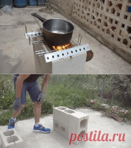 Бюджетная печь из шлакоблоков