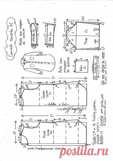Camisão vestido chemise – Marlene Mukai