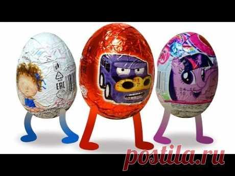 Magic chocolate eggs. Machines. Kinder surprise. Surprise Eggs, Kinder Surprise