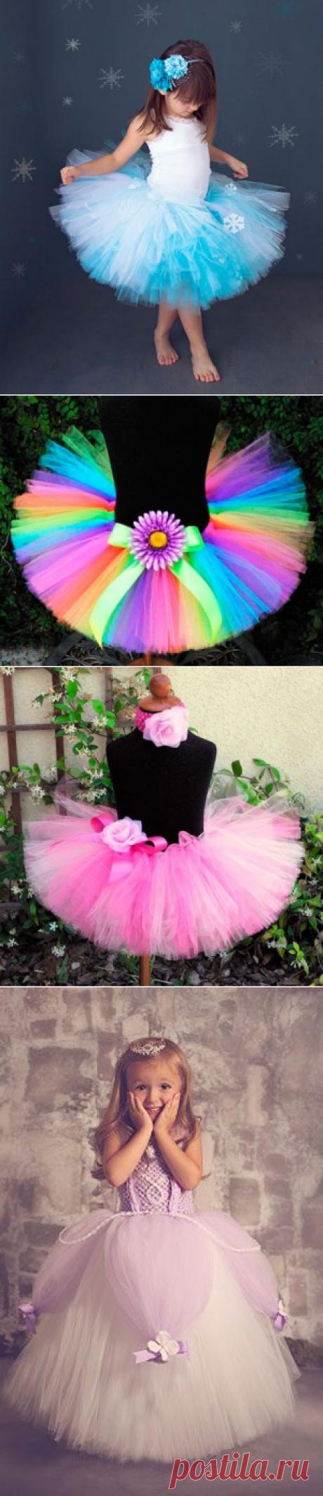 Новогодние костюмы для девочек: пышная юбка своими руками / Малютка