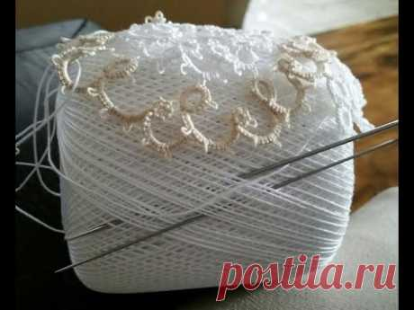 (Tutorial)  How To Do Needle Tatting a Closed Ring DIY ( Video 1)