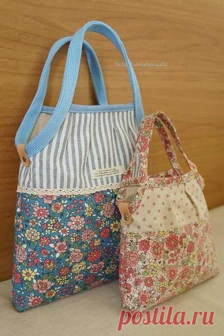 Утилизируем остатки материала. Шьем сумки из кусочков ткани! Подборка для вдохновения. | Handmade для всех | Яндекс Дзен