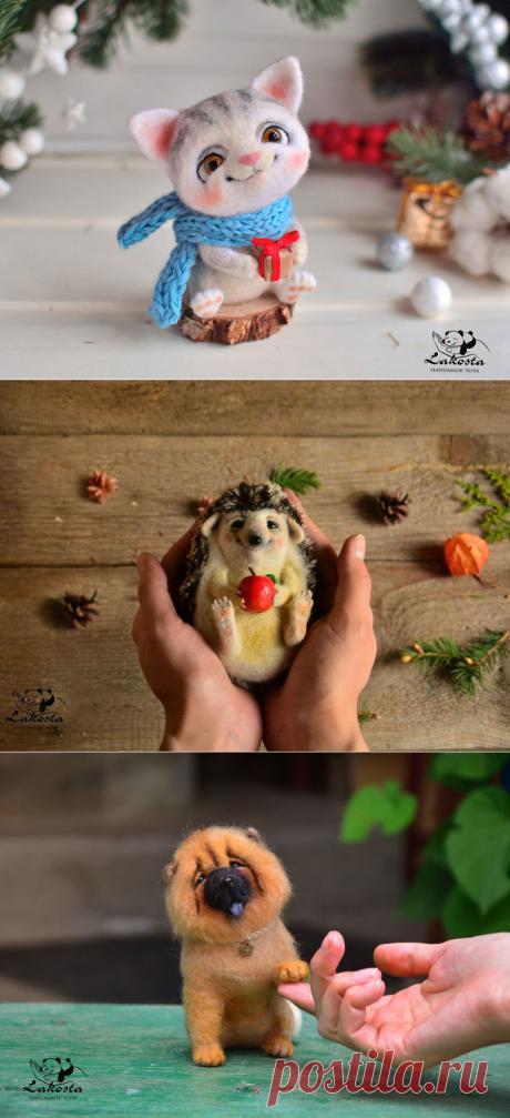 Потрясающие валяные игрушки