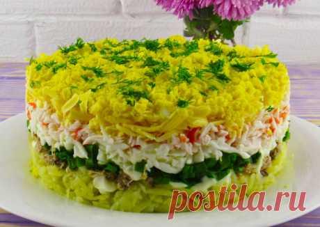 """Салат """"Аристократ"""" из простых продуктов — Sloosh – кулинарные рецепты"""