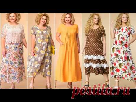 """МНОГО """"БОХО"""" ! Летние платья для ПОЛНЫХ женщин из льна, хлопка, вискозы. Новинки лето 2021."""