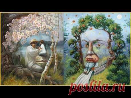 Картины мастера оптических иллюзий Олега Шупляка