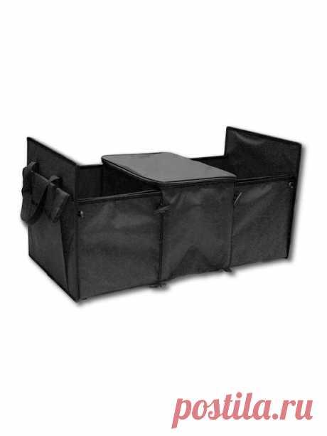 (348) Автоорганайзер трехсекционный с куллером для хранения и перевозки вещей и продуктов Miolla.   Хранение вещей
