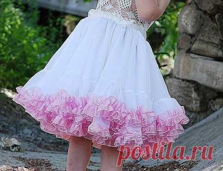 Пышная юбка для девочки (Шитье и крой) — Журнал Вдохновение Рукодельницы