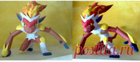 Infernape papercraft Finally I have finished to build Infernape. Designed and built by me. This is the download