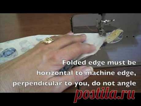 Sewing - Miter a Hem for Tablecloths, Placemats or any 90 degree angle