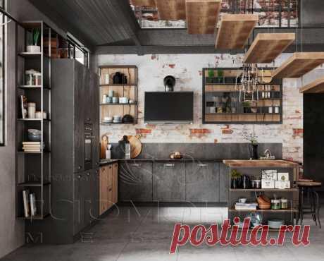 Одним из новомодных решений считается кухня в стиле Лофт. Просторный интерьер, выполненный в индустриальном стиле Loft - это выбор современных и активных молодых людей, предпочитающих удобство, комфорт и минимализм. Такой переменчивый и неординарный стиль loft завоевывает все больше и больше сердца людей, не боящихся экспериментов и новаторских идей в дизайне мебели.   Вы готовы к экспериментам?   #минимализм #лофт #лофтдизайн #лофтмебель #лофтинтерьер #лофтстиль #лофтспб ...