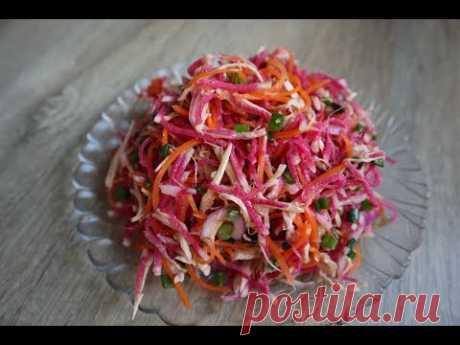 Всем большой привет! Сегодня готовим изумительно вкусный салат с редькой, корейской морковью и мясом. Салатик получается сочным, сытным, ярким и полезным. Ин...