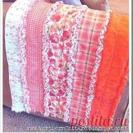 Необычные покрывала из лоскутов с декором синель (МК)