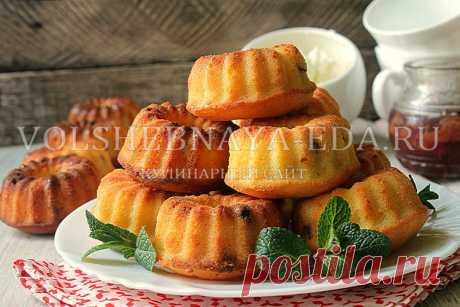 Творожные кексы в духовке - пошаговый рецепт с фото | Волшебная Eда.ру