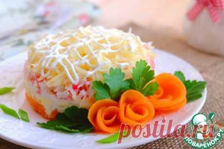 """Салат слоеный """"Крабовый"""" - кулинарный рецепт"""