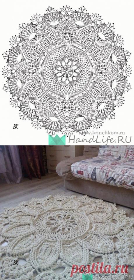 Схема вязания красивого коврика / Вязание