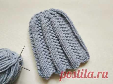 Шапка на осень интересным и простым узором спицами » «Хомяк55» - всё о вязании спицами и крючком