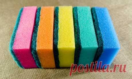 Почему губки для мытья посуды бывают разных цветов? а вы знали?