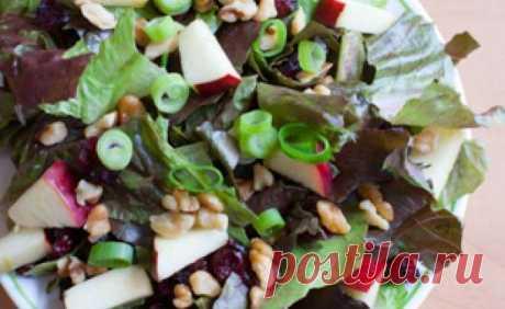 Яблочно-клюквенный салат