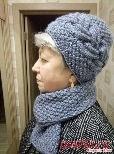Шапка и шарф для холодной погоды спицами - В.Г.У. - Вязаные Головные Уборы - Страна Мам