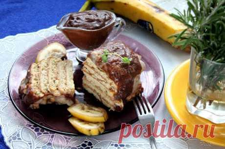 Торт банан печенье сгущенка без выпечки рецепт с фото пошагово - 1000.menu