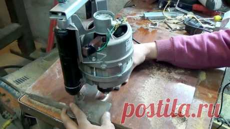 Мощный фрезер из двигателя стиральной машинки своими руками
