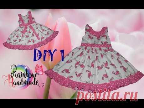 DIY 1: Платье с оборками и открытой спинкой/Dress with ruffles and open back