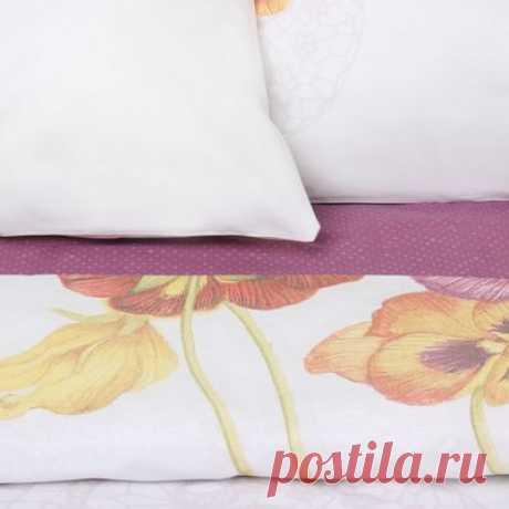 Купить Волшебная ночь Фиалки Комплект Евро Ранфорс Purple 701933 по низкой цене в Москве