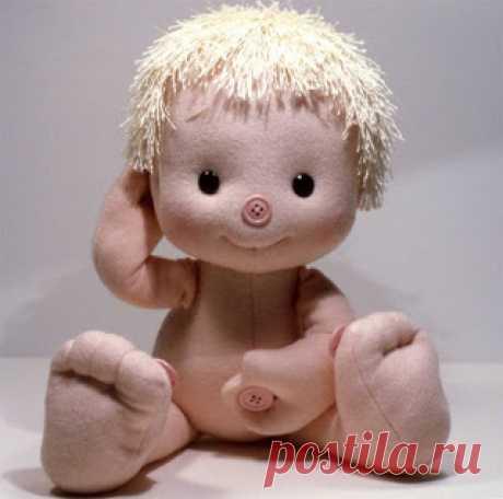 Блог о текстильных шарнирных куклах ручной работы: Выкройка пупса по мотивам куклы Кнопка Нос (Mel Birnkran)