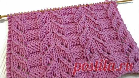 Японский ажур спицами - Просто и Красиво | Enjoy Knitting/Вяжем узоры | Яндекс Дзен