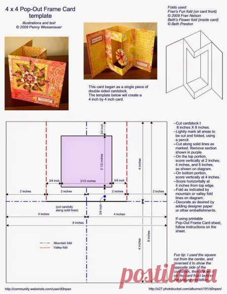 ScrapBox - уникальные материалы для скрапбукинга: Схемы объемных отрыток