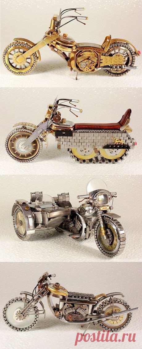 Мотоциклы из наручных часов / Авто Мото Вело / Модный сайт о стильной переделке одежды и интерьера