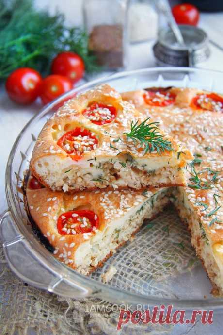 Заливной пирог на сметане и майонезе с фаршем — рецепт с фото пошагово