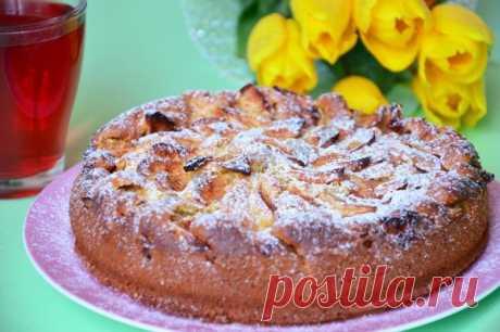Яблочный пирог на йогурте рецепт с фото пошагово - 1000.menu