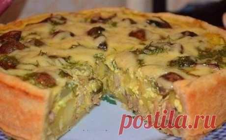 Пирог с курицей и картошкой