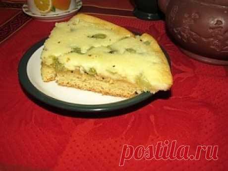 Песочный пирог с киви