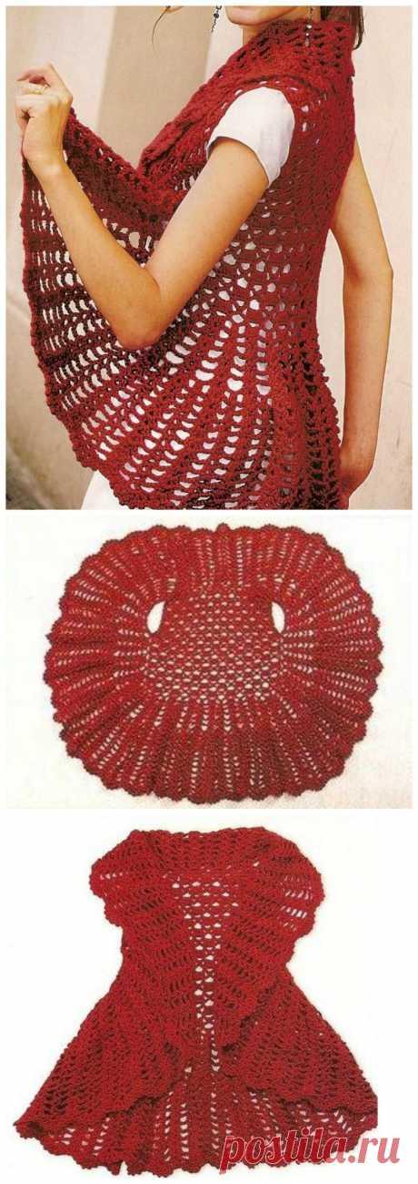 12 Free Crochet Patterns for Circular Vest Jacket