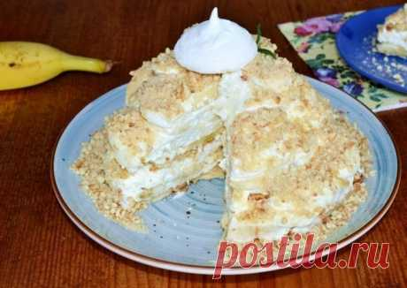 Торт с бананами и зефиром — Sloosh – кулинарные рецепты