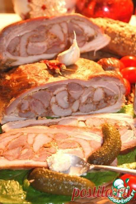 Грудинка, фаршированная мясом – кулинарный рецепт