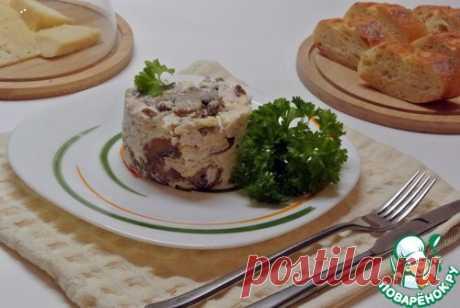 Грибной салат с курицей – кулинарный рецепт