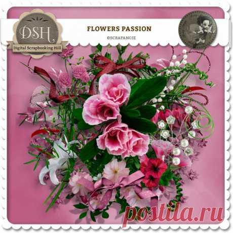 Цветочный скрап-набор «Flowers Passion»