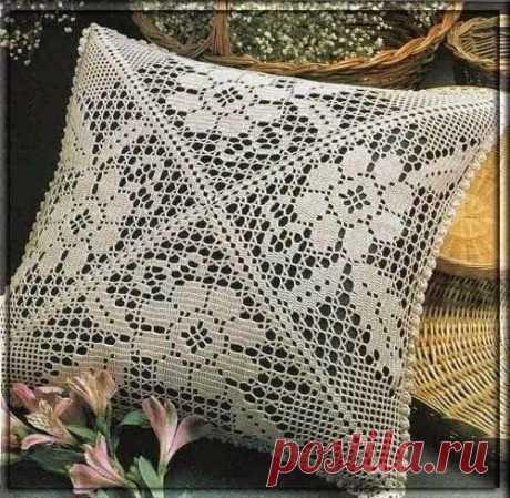 Узоры филеечкой для интерьерной подушки