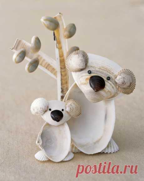 Как сделать красивые поделки из ракушек своими руками — фото вариантов украшений с использованием раковин