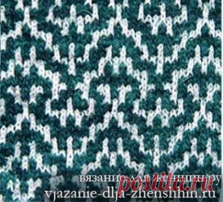 Многоцветные узоры спицами с описанием и схемами 2  Двухцветный ленивый жаккард    Цветная сетка   Узор Королевские лилии