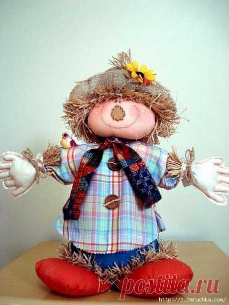 Пугало - текстильная кукла. Выкройка куклы..