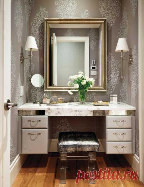 Отделка ванной обоями — Интерьер и Декор