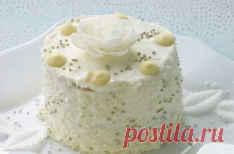 """Пирожное """"Зимние цветы"""" - вкусное и оригинальное"""