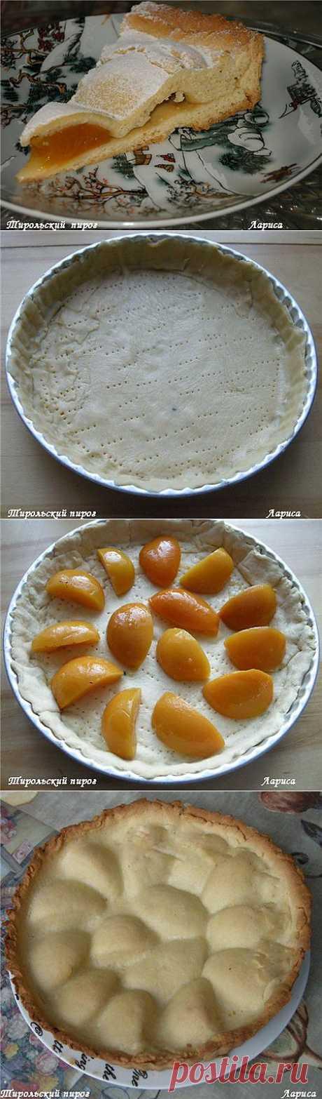 Тирольский пирог с абрикосами или персиками.