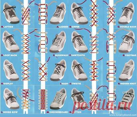 25 оригинальных способов завязывания шнурков