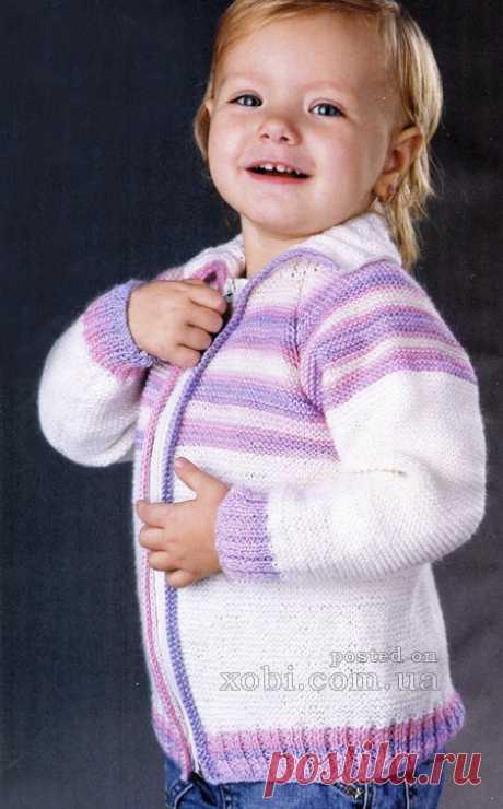 Детские жакеты и кофточки вязаные крючком и спицами, 200+ моделей » Страница 2